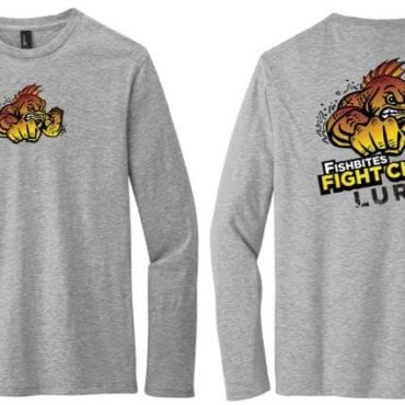 Fishbites Fight Club Lure Long Sleeve T-Shirts - GRAY