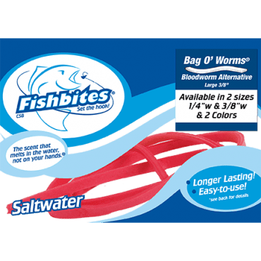 Fishbites Bag O' Worms® – Longer Lasting Bloodworm Red