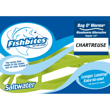 Fishbites Bag O' Worms® – Longer Lasting Bloodworm Chartreuse