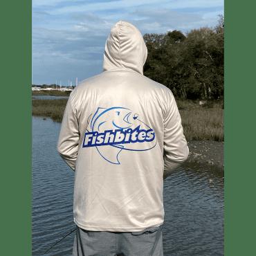 Fishbites Performance Hoodie - Silver