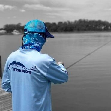 Fishbites Face Cover - BLUE